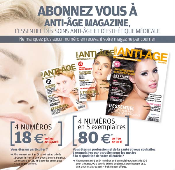 Abonnement Anti Age Magazine